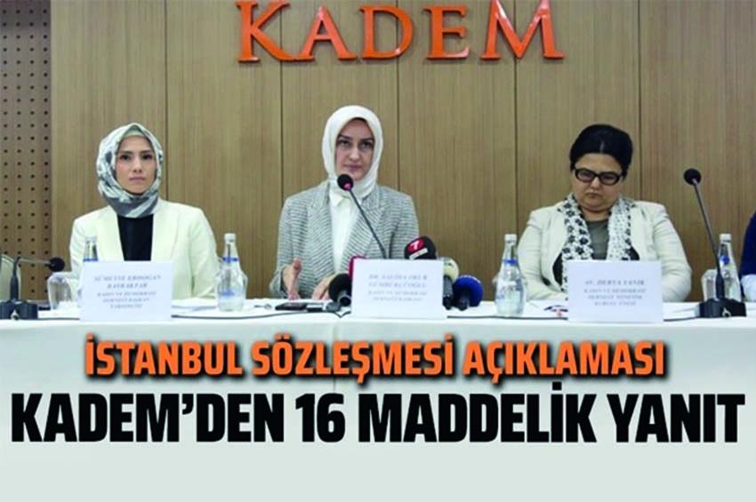 KADEM'den, İstanbul Sözleşmesi İçin Bayram Tefsiri