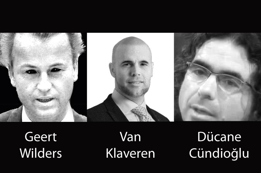 Van Klaveren, Geert Wilders  ve Dücane Cündioğlu